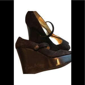 Coach Shoes - Coach platform wedge Mary Janes heels